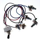 Wiring Harness Prewired 2V2T 3way Toggle Switch jack 500K Pots for Gibson Guitar