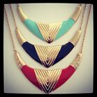 Statement Shield Necklace By Chi22 London. Available in Black, Red & Aqua.