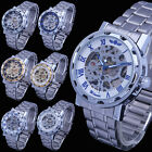 Luxury Durable Skeleton Men's Boy's Xmas GIFT Army Mechanical Sport Steel Watch