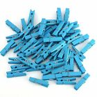 100pcs Wood Clothes Pins Wooden Clothespins Spring Clamp Style Hooks Wholesale