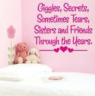 SISTER wall art quote best friends huge bedroom sisters transfer quote sticker