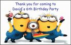PERSONALISED DESPICABLE ME MINIONS MAGNETS - PARTY BAG FILLERS / GIFTS