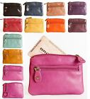 Brunhide Ladies Small Leather Coin Purse Credit Card & Key Ring Wallet 211-300