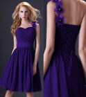 Sexy Formal short party Bridal Bridesmaid gown prom Mini evening Cocktail dress