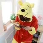 Lovely Adult Unisex Red and Yellow Pooh Bear Sleepwear Costume Cosplay Jumpsuit