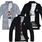 Faddish Men's Hoodies Jacket Sports Casual Stand Collar Button Thin Coats MWW009
