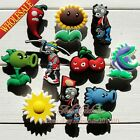 Gifts 10-50pcs Hot Games Plants vs Zombies PVC Shoe Charms fit Wristbands jibz