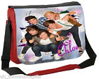 LARGE PERSONALISED SCHOOL / COLLEGE MESSENGER BAG ANY NAME-KOOLART 1D BACKGROUND
