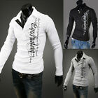 Fashion Cool Mens Casual Slim Fit Polo T-Shirt Long Sleeve Tee Shirt IN XS S M L