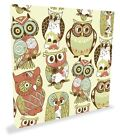 "Owls Shabby Chic Canvas Art Size 20"" x 20"""