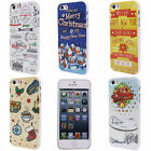Coffee Christmas Wreath House Printed Hard Back Skin Case Cover for i Phone 5 5S