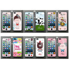 Wo Slim Front Back Clear Cartoon Screen Protector Film Cover For Iphone 5 5S (G)