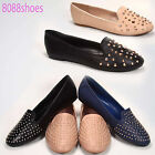 Women's Causal Slip On  Studded Round Toe Loafer Flat Sandal Shoes NEW 5.5 - 11