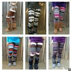 Nordic Tribal Chevron Print High Waist Soft Knitted Leggings Pants XJB