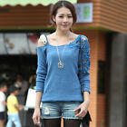 Casual Sexy Women's Loose Off-shoulder Bat Dolman Sleeve Knitting Tops 4 Colors