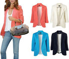New Womens Fashion Candy Color Seventh Volume Sleeve Jacket Blazer Coat XS S M L