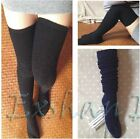 Japanese Girl Women Knit Over Knee Winter Thigh-Highs Hose Boot Stockings