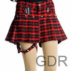 PUNK Lolita NANA PLEATED PANTIES COVER 61273 RED SKIRT S-L