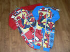 BOYS MARVEL SPIDERMAN RED OR BLUE FLEECE  SLEEPSUIT ALL IN ONE PYJAMAS