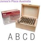 Letter & Number Punch Set - 3 Sizes-  Gothic font - deluxe wooden storage box.