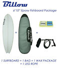 "NEW Billow 6'10"" Epoxy Fish Surfboard Matte Finish  with 5xFCS fins Shortboard"