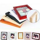 Fashion Wood Wooden Photo Frame Square Picture Frames Size Stand Wall Hang New