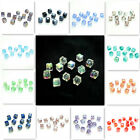 100pcs Faceted CUBE CRYSTAL glass loose BEADS 4mm Variety of colors