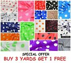"Cotton Print Large Polka Dot Spot, Dress-making 1"" Spots Crafts Fabric Material"