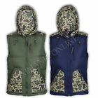 mens army hooded padded puffed bodywarmer camouflage military jacket camo gilet
