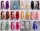 Women hair heat resistant 28 in. long 70cm big wavy cosplay wig