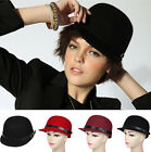 3 Colors Cool Women's Lady 100% Wool Stewardess Hat Office Beret Cap Equestrian