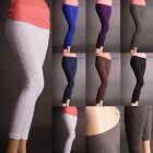 Внешний вид - CABLE Knit COTTON Sweater Skinny Stretch Footless Leggings Pants Yoain