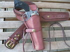 """Gun Belt - Cartridge - with 8"""" to 10"""" Smooth Holster Combo - .22 Caliber - Brown"""