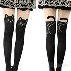 Women Sexy Cat Cute Lovely Tail Gipsy Mock Knee High Socks Hosiery Tattoo B52