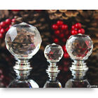 Top Quality Round Crystal Clear Glass Drawer Handle Cabinet Cupboard Door Pull