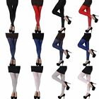 Sexy Candy Color Solid Seamless Stretch Footless Stockings Long Pants Leggings