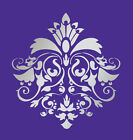 LARGE WALL DAMASK STENCIL PATTERN FAUX MURAL DECOR #1026 (Choose Custom Size)