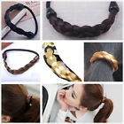 Women Faux Hair Band extension elastic Rope Hairpiece Pony tail Holder punk rock