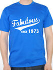 FABULOUS SINCE 1973 - Birth Year / Birthday Gift / Novelty Themed Men's T-Shirt