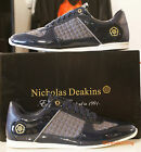 Mens Nicholas Deakins Sprint Navy blue Patent Trainers/ Sneakers sizes 6-11