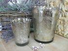 Mercury Glass Planter/Candle Holder Vintage Antique Style Two Sizes GORGEOUS!