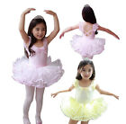Girl Party Costume Ballet Dress SZ 3-8Y Kids Leotard Toddler Show New Tutu Dance