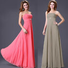 Grey Pink Queen Sexy Long Wedding Gowns Party Formal Evening Grace Karin Dress