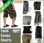 PRO CLUB CARGO SHORTS TWILL ProClub Mens Combat Camo Bdu Long Length Pants 30-64