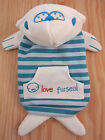 CUTE blue white?FUR SEAL?Costume pet coat  clothes size S M L for small dog cat