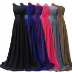 One Shoulder Long Maxi Bridesmaid Prom Ball Gown Evening Party Homecoming Dress