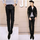 Men's Casual Slim Fit Jeans Pencil Pants Denim Splicing Sexy Chaparajos Trousers