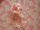 PINK ROSE cellophane gift wrap + Pink Pull Bow &Tag birthday wedding ANNIVERSARY