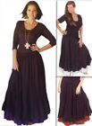 @D6220 MAXI SKIRT DOUBLE LAYER DELICATE STUNNING CUTE MADE TO ORDER LOTUSTRADERS