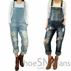 New Women Boyfriend Jeans Ripped Washed Denim Fashion Jumpsuit Destroyed Overall